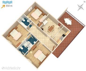 Apartment A-2867-a - Apartments Splitska (Brač) - 2867