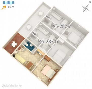 Studio flat AS-287-a - Apartments Vir (Vir) - 287