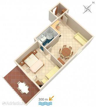Bol, Plan u smještaju tipa apartment, WIFI.