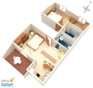 Apartament A-2875-a - Kwatery Bol (Brač) - 2875