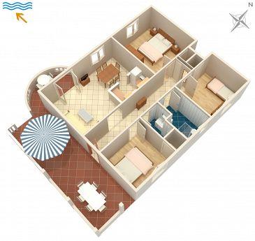 Apartament A-2923-b - Apartamenty Splitska (Brač) - 2923