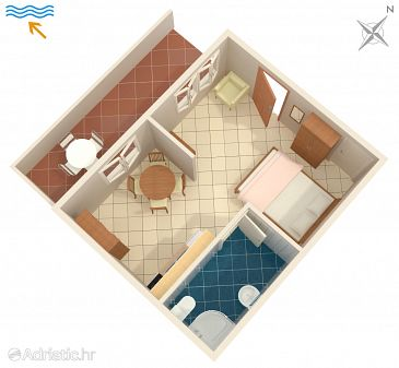 Studio flat AS-2954-a - Apartments Povlja (Brač) - 2954
