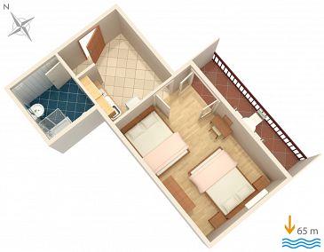 Apartament A-2973-b - Kwatery Lokva Rogoznica (Omiš) - 2973