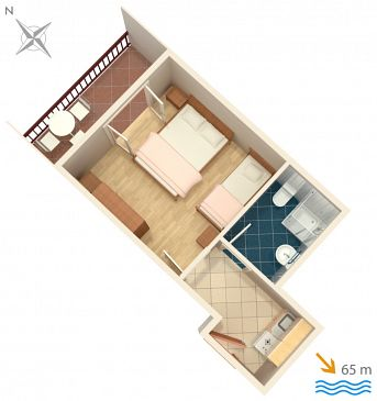 Studio flat AS-2973-a - Apartments and Rooms Lokva Rogoznica (Omiš) - 2973