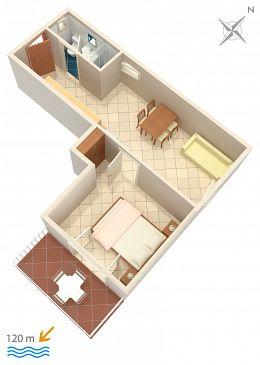 Apartament A-300-c - Apartamenty Baška Voda (Makarska) - 300