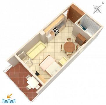 Studio AS-300-c - Apartamenty Baška Voda (Makarska) - 300