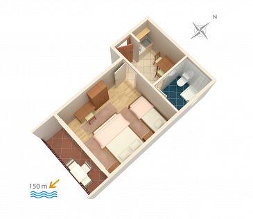 Studio flat AS-301-a - Apartments and Rooms Baška Voda (Makarska) - 301