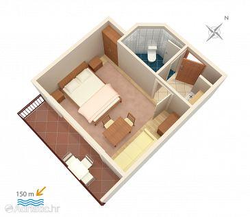 Studio flat AS-301-b - Apartments and Rooms Baška Voda (Makarska) - 301
