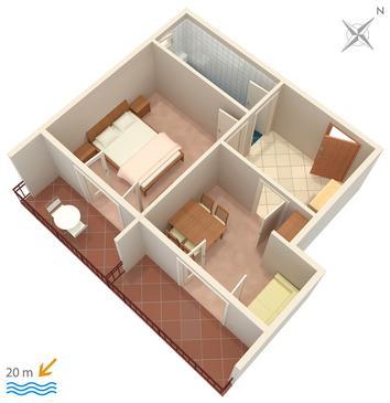 Apartament A-303-a - Apartamenty Drvenik Donja vala (Makarska) - 303