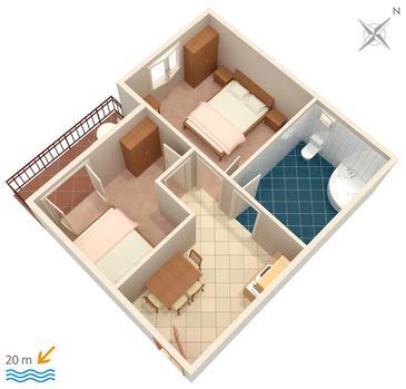 Apartment A-303-c - Apartments Drvenik Donja vala (Makarska) - 303