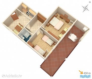 Apartment A-3043-d - Apartments and Rooms Mali Lošinj (Lošinj) - 3043