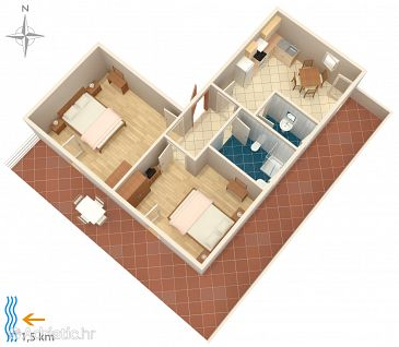 Apartment A-3046-a - Apartments and Rooms Babići (Umag) - 3046