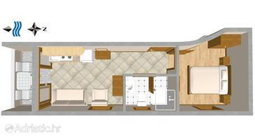 Apartment A-3061-b - Apartments Nemira (Omiš) - 3061