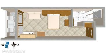 Studio flat AS-3061-b - Apartments Nemira (Omiš) - 3061