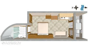 Studio flat AS-3061-h - Apartments Nemira (Omiš) - 3061