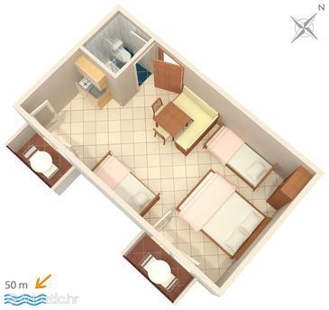 Studio flat AS-3063-c - Apartments and Rooms Duće (Omiš) - 3063