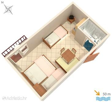 Studio flat AS-3063-e - Apartments and Rooms Duće (Omiš) - 3063