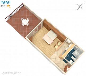 Studio flat AS-3074-b - Apartments and Rooms Milna (Hvar) - 3074