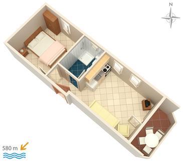 Apartament A-3083-a - Apartamenty Stara Novalja (Pag) - 3083
