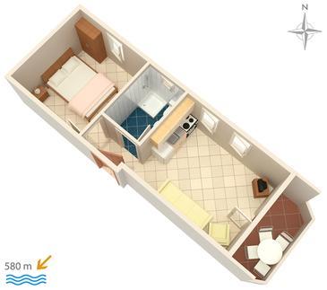 Apartment A-3083-g - Apartments Stara Novalja (Pag) - 3083