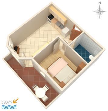 Apartment A-3083-j - Apartments Stara Novalja (Pag) - 3083