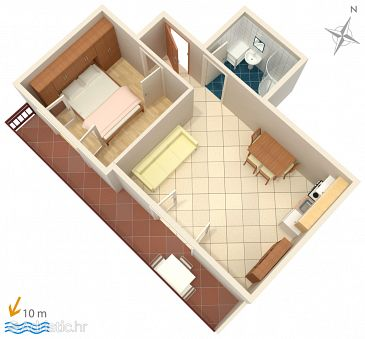 Apartment A-3088-d - Apartments and Rooms Primošten (Primošten) - 3088