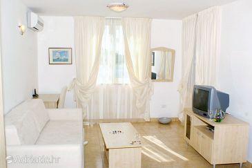 Vinjerac, Living room u smještaju tipa apartment, dostupna klima, dopusteni kucni ljubimci i WIFI.