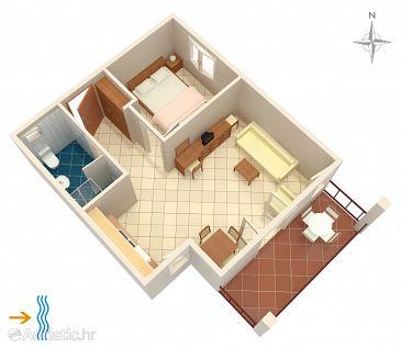 Apartment A-3094-c - Apartments Rogoznica (Rogoznica) - 3094