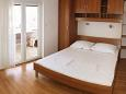 Igrane, Bedroom 1 u smještaju tipa apartment, WIFI.