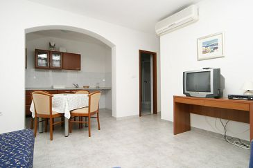 Pučišća, Living room u smještaju tipa apartment.