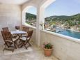 Pučišća, Terrace u smještaju tipa apartment, s pogledom na more.