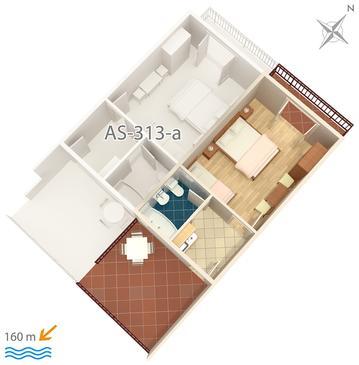Studio flat AS-313-b - Apartments Podaca (Makarska) - 313