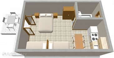 Studio flat AS-314-a - Apartments Podaca (Makarska) - 314