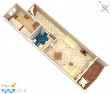Apartment A-3162-e - Apartments Trpanj (Pelješac) - 3162