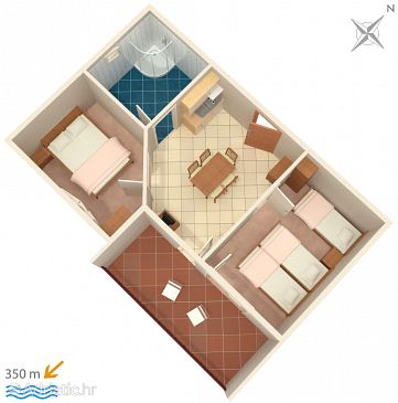Apartment A-3190-c - Apartments Duće (Omiš) - 3190