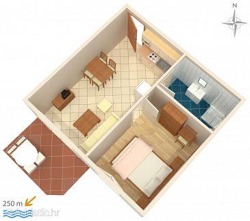 Palit, Plan u smještaju tipa apartment, WIFI.