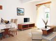 Kampor, Living room u smještaju tipa apartment, dostupna klima i WIFI.
