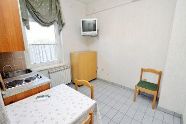 Rtina - Miletići, Jadalnia u smještaju tipa apartment, dostupna klima i WIFI.