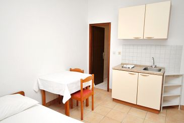 Rtina - Miletići, Jadalnia w zakwaterowaniu typu studio-apartment, WIFI.