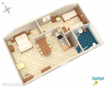 Nerezine, Plan u smještaju tipa apartment, WIFI.