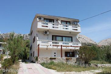 Property Metajna (Pag) - Accommodation 3304 - Apartments near sea with pebble beach.