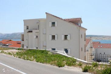 Property Vidalići (Pag) - Accommodation 3309 - Apartments near sea with pebble beach.