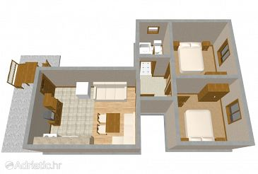 Apartment A-336-a - Apartments and Rooms Tkon (Pašman) - 336