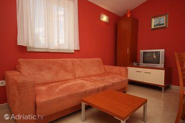 Bašanija, Living room u smještaju tipa apartment, dostupna klima i WIFI.