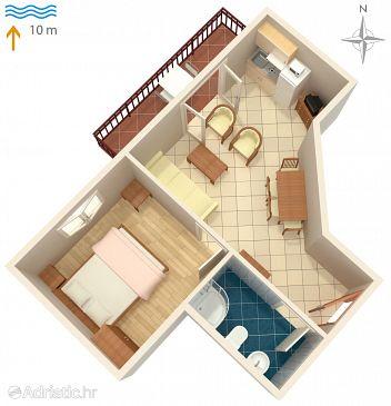 Apartment A-3460-a - Apartments Kraj (Pašman) - 3460