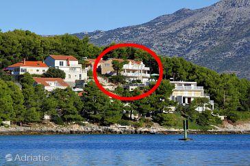 Lumbarda, Korčula, Property 3560 - Apartments and Rooms blizu mora.