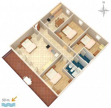 Apartament A-358-a - Apartamenty Sveti Petar (Biograd) - 358