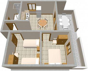 House K-396 - Vacation Rentals Lavdara (Dugi otok - Lavdara) - 396