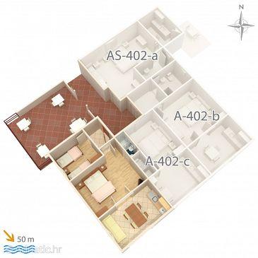 Апартаменты A-402-a - Апартаменты Saplunara (Mljet) - 402