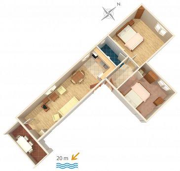 Apartament A-4029-e - Kwatery Sućuraj (Hvar) - 4029